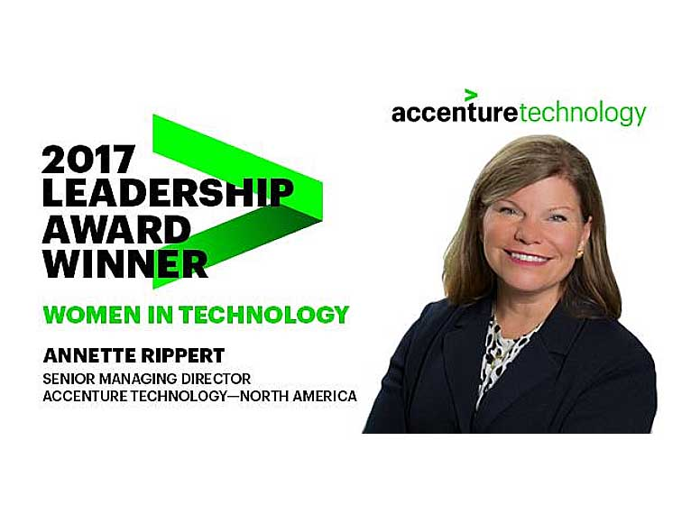 Accenture's Annette Rippert Honored with Leadership Award from Women in Technolo...
